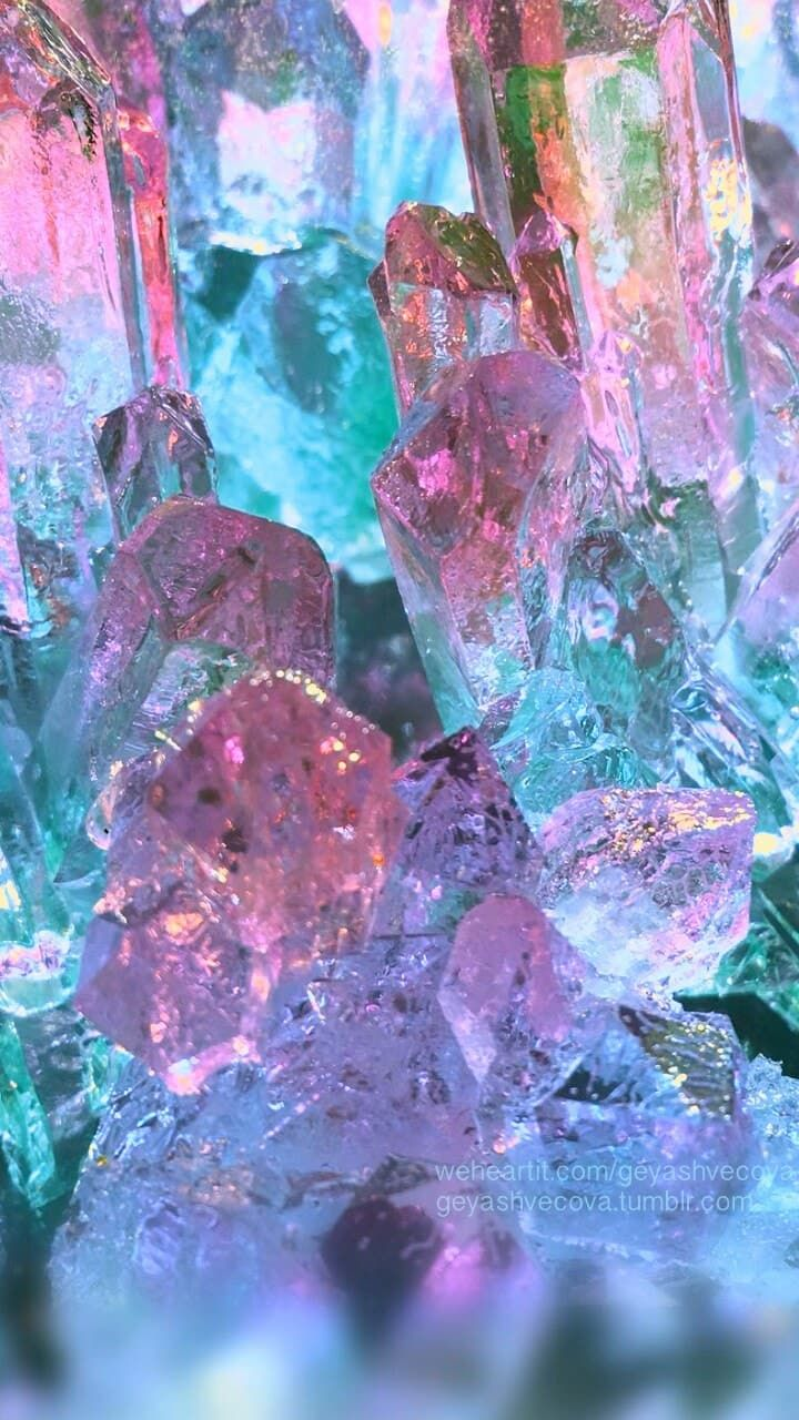 Purple Crystals Mystic Glow Wallpaper Crystal Aesthetic