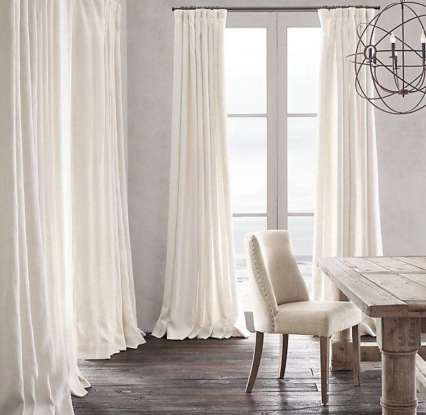 Cortinas de lino deco pinterest cortinas de lino for Cortinas blancas