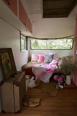 Jane Frosh's Carrie the caravan  via Shibori blog