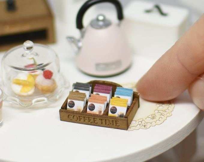 Dollhouse Miniature Wooden Recipe Box w//Recipe Cards by Tiny Details
