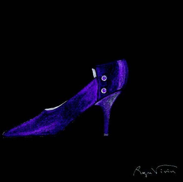 Roger Vivier - Projet d'escarpin violet  Collection Personnelle (Neuilly)  à Aguttes