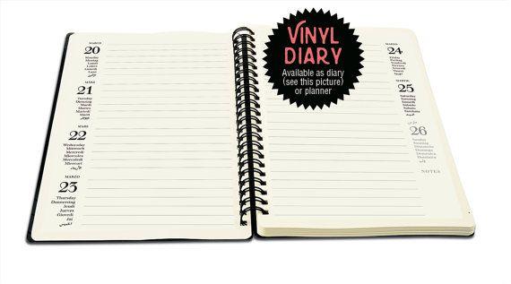 Wochenkalender 2017 aus einer Schallplatte Notizbuch von phonoboy