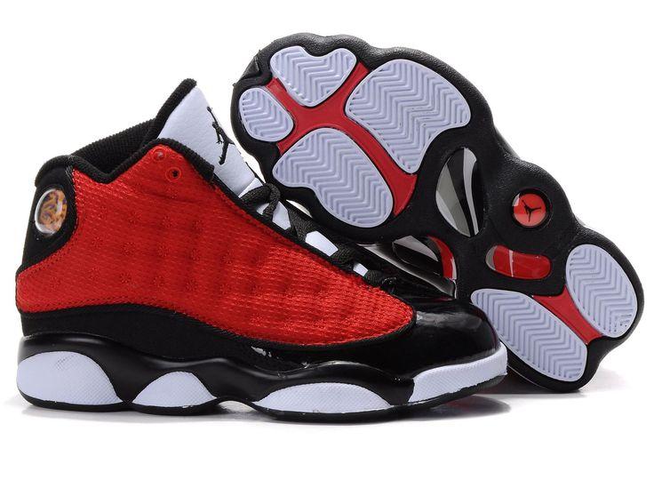 jordans shoes | ... > Air Jordan For Kids > Air Jordan 6 Rings Kids Red Black White Shoe