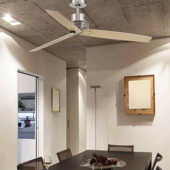 CORFU' VENTILATORE A SOFFITTO IN ACCIAIO E PALE BICOLOREVentilatori soffitto senza luce