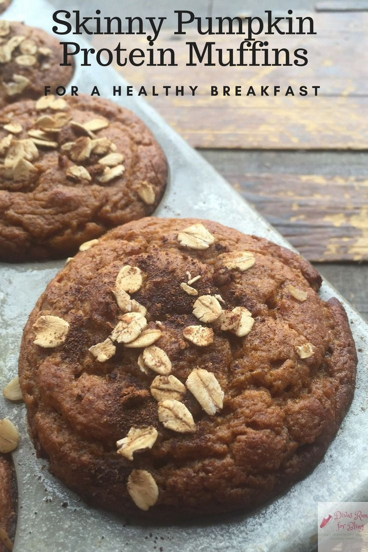 My mornings are busy so I am always looking for easy healthy recipes to fix. Try these skinny pumpkin protein muffins this fall for a healthy breakfast or snack. via @divasrun4bling