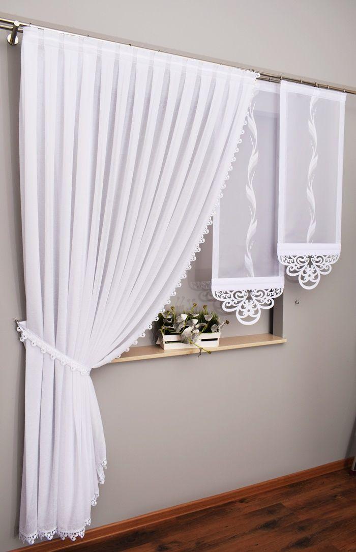 Zestaw Firan Alicja Ekrany Panele Azury 160 220cm 7137902945 Allegro Pl Wiecej Niz Aukcje Curtain Designs Curtain Decor Curtains