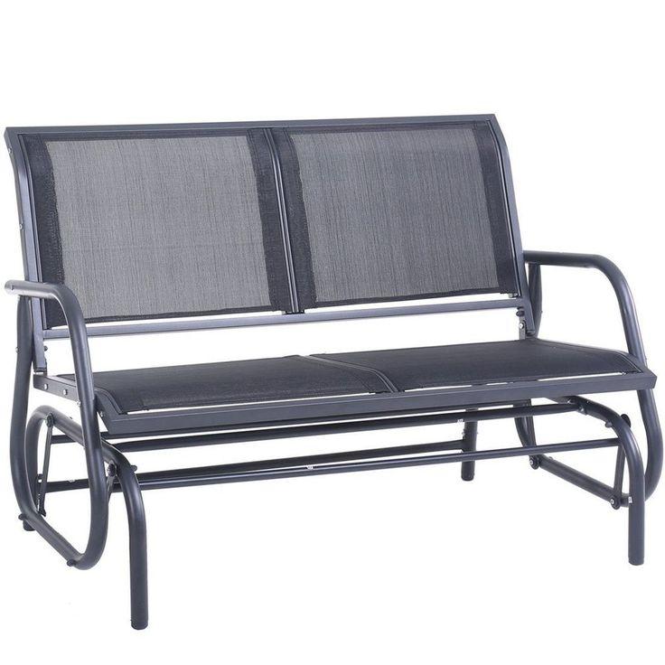 Patio Glider Chair Rocking Seating Garden Swing Loveseat Summer Pool Furniture #PatioGliderChair