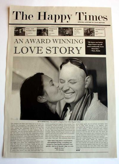 NewsFavor Wedding Newspapers - Custom Wedding Invitations | Wedding Planning, Ideas & Etiquette | Bridal Guide Magazine
