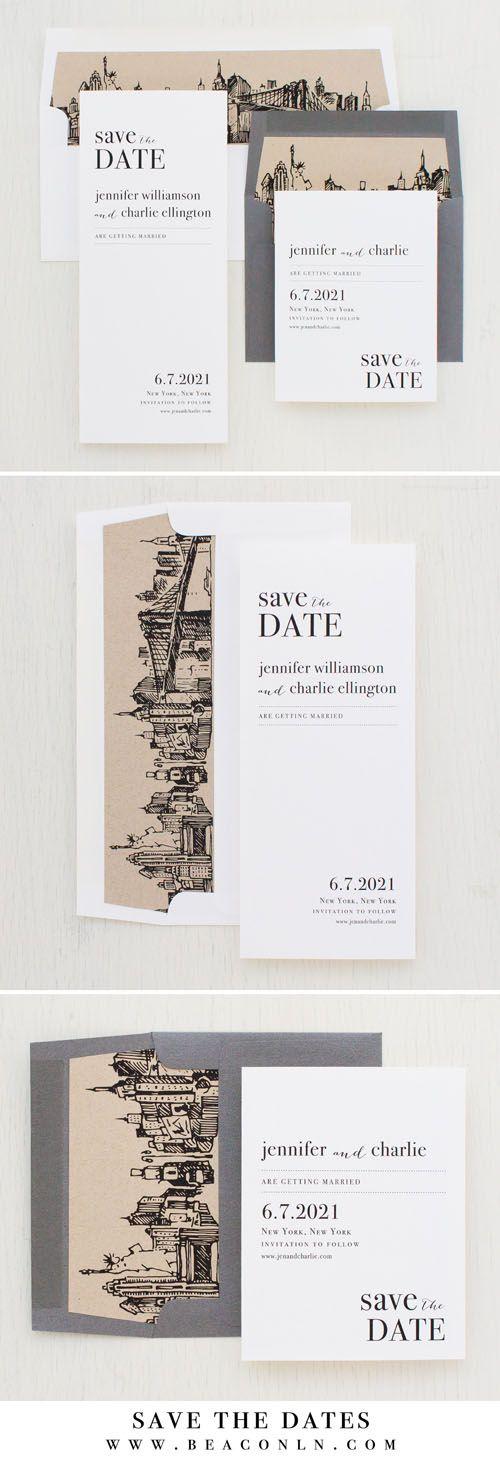 City Skyline Save The Dates Beacon
