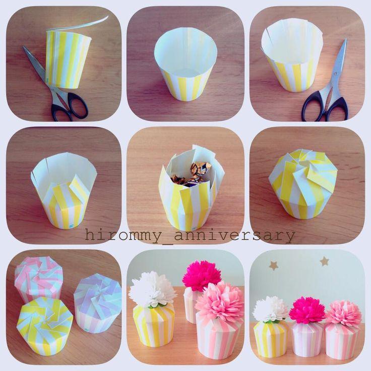 お菓子ラッピングやパーティーの持ち帰りに!紙コップを使って簡単&かわいいラッピング|by hirommy anniversary / ARCH DAYS