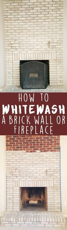 Loves the Find: How to paint whitewash (limewash) brick.