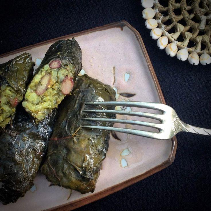 Vegan Persian-Style Stuffed Chard Leaves (Dolmeh)