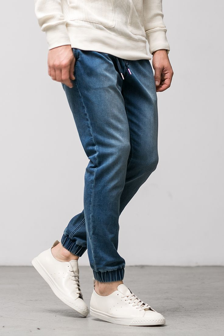 The Daily Indigo Jogger: We designed these with the look of denim and comfort of sweats so you can have the best of both worlds.