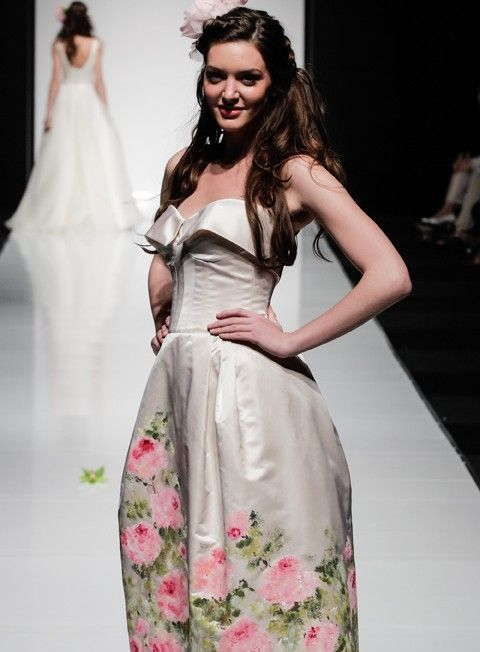Rani zakhem watercolor dress on hanger