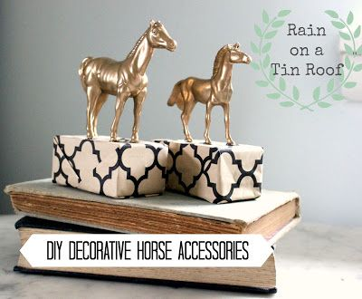 DIY Decorative Horse Accessories...which started life as plastic toys {rainonatinroof.com}