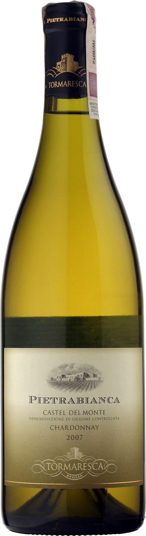 Tormaresca Pietrabianca Castel Del Monte D.O.C. W całości wytworzone ze szczepu chardonnay. Kolor lekko żółty z zielonkawymi odcieniami. Zapach intensywny, z nutami brzoskwini i dojrzałego jabłka oraz laski wanilii. #Tormaresca #Pietrabianca #CastelDelMonte #Chardonnay #Wino #Wlochy #Winezja #Puglia