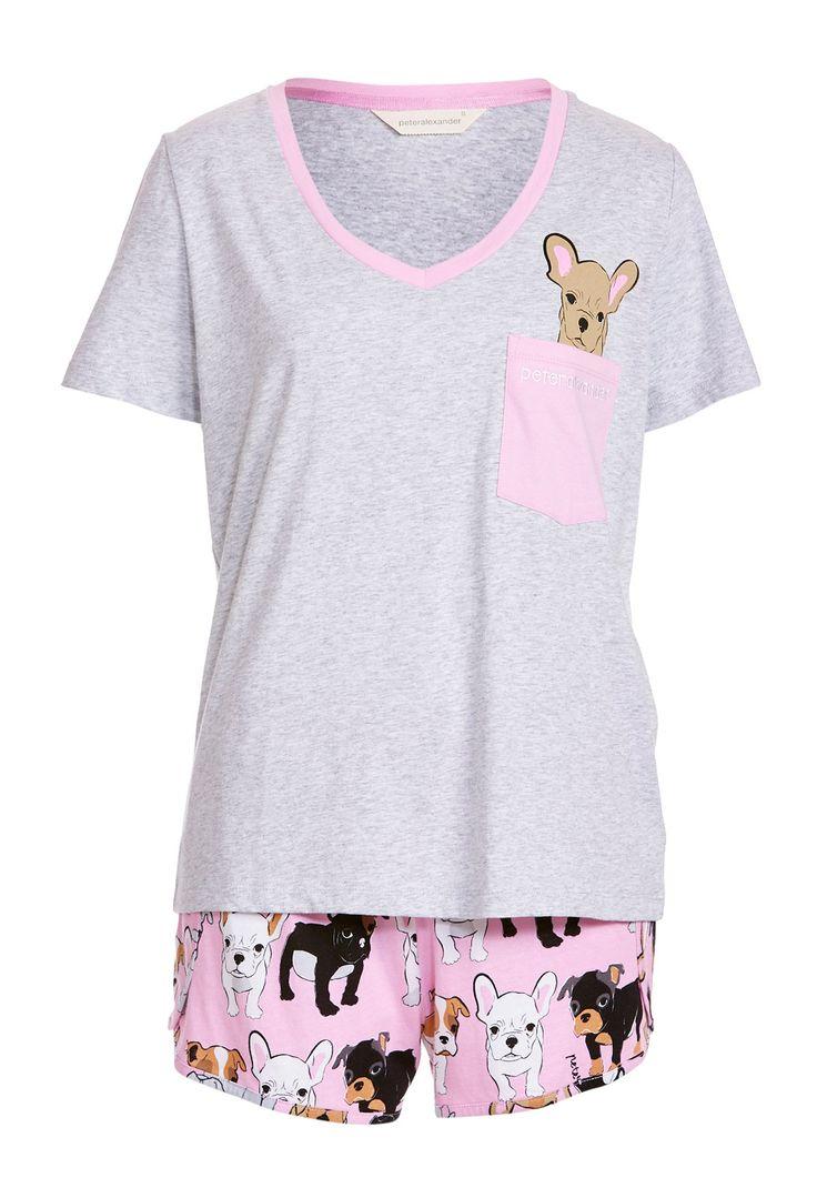 Image for Pocket Puppy Shortie Pj Set from Peter Alexander - Lingerie, Sleepwear & Loungewear - amzn.to/2ieOApL Lingerie, Sleepwear & Loungewear - amzn.to/2ij6tqw Clothing, Shoes & Jewelry - Women - Clothing - Lingerie, Sleep & Lounge - Lingerie - Lingerie, Sleepwear & Loungewear - http://amzn.to/2lSL4Y7