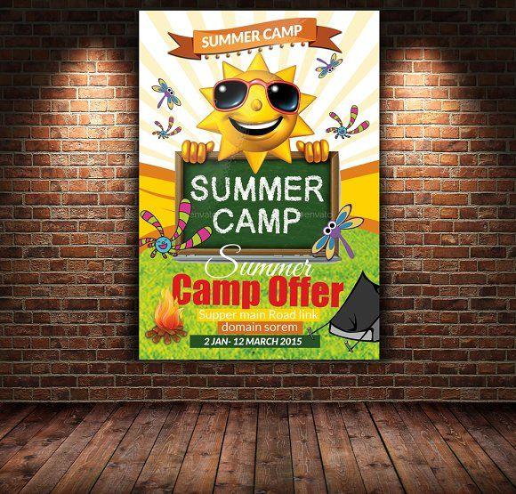 9 Best Summer Camp Flyer Inspiration Images On Pinterest Flyers