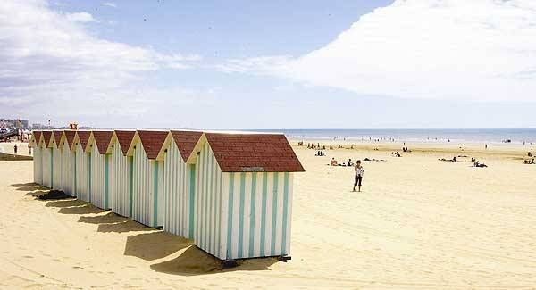 The beach at Saint Jean de Monts, France. The holiday combined Vendee for the sun and Paris for Disney.