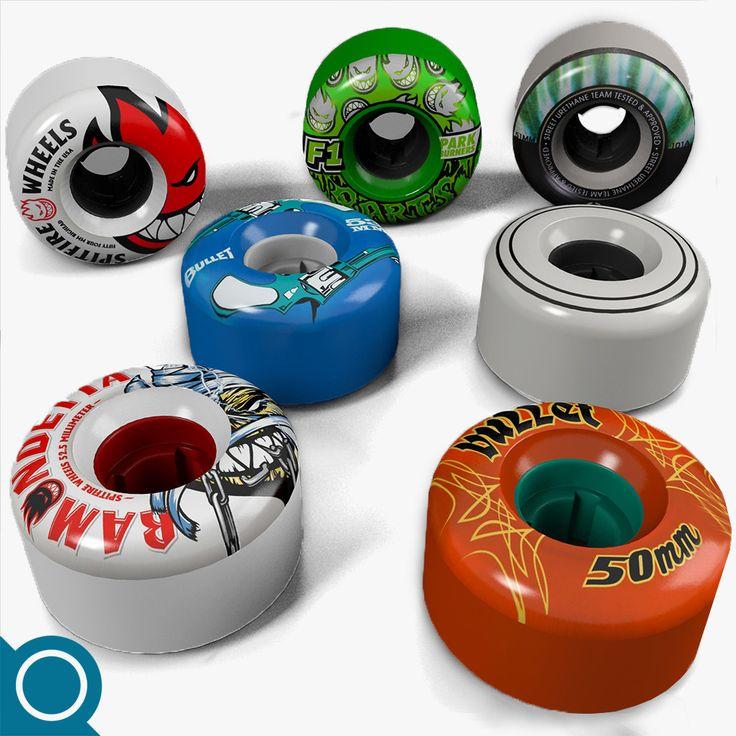 3D Skateboard Wheel Model - 3D Model