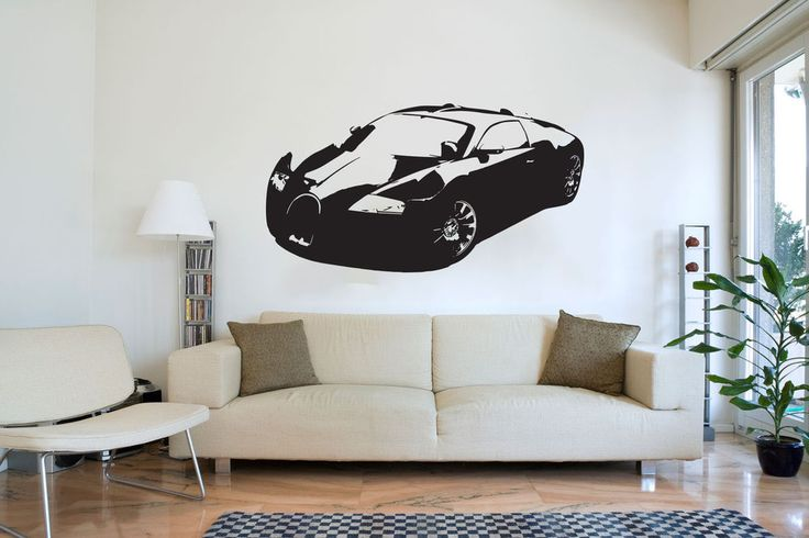 XL Large Car Bugatti Veyron Bedroom Free Squeegee! Wall Art Decal / Sticker - My favorite