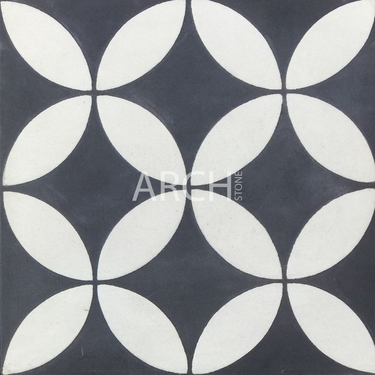 Hand-painted encaustic tiles made from concrete. Available in Matt finish, 200x200. Photo shows individual tile.