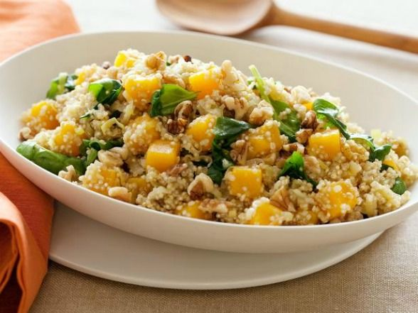 Butternut squash with quinoa, spinach and walnuts.: Butternut Squash, Side Dishes, Food, Recipes, Spinach, Quinoa, Squashes, Cookingchanneltv Com, Walnuts