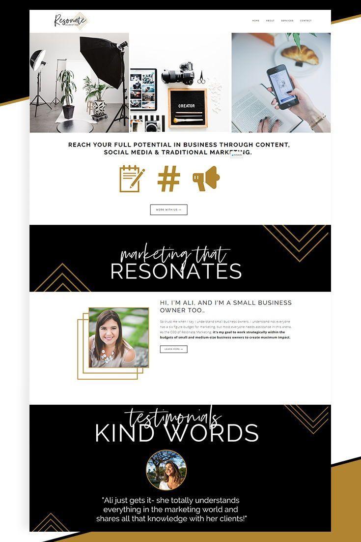 Karimacreative Elegant Website Design For Resonate Marketing Minimal Web Design For Branding Website Design Website Design Inspiration Elegant Website Design