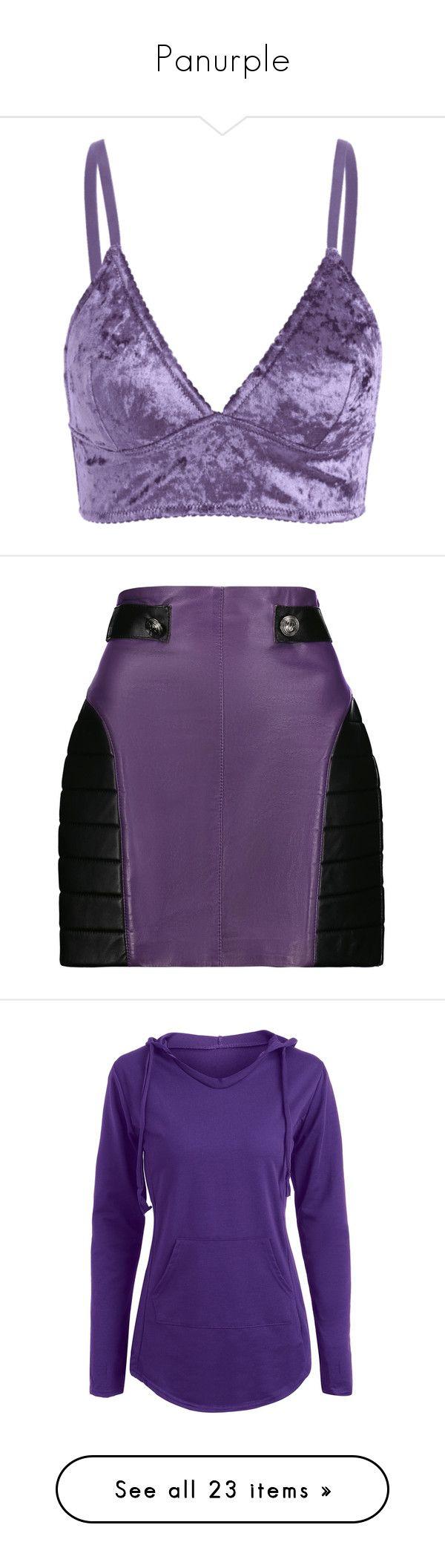 """Panurple"" by arikenn on Polyvore featuring intimates, bras, zaful, velvet bra, velvet camisole, cami bra, long line bra, camisole bra, skirts and mini skirts"