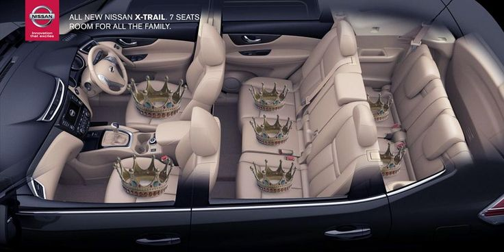 [Twitter] It could be triplets and there would *still* be enough room for the Queen... #XTrail #SevenSeats #RoyalBaby