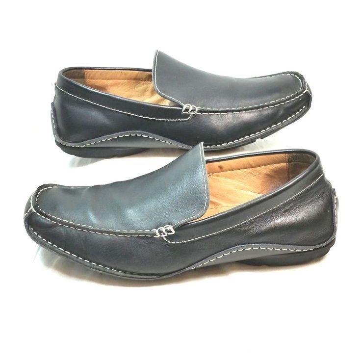 Steve Madden Novo Black Casual Slip On Driving Loafers Shoes Mens Size 8.5 #SteveMadden #DrivingMoccasins
