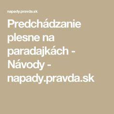 Predchádzanie plesne na paradajkách - Návody - napady.pravda.sk