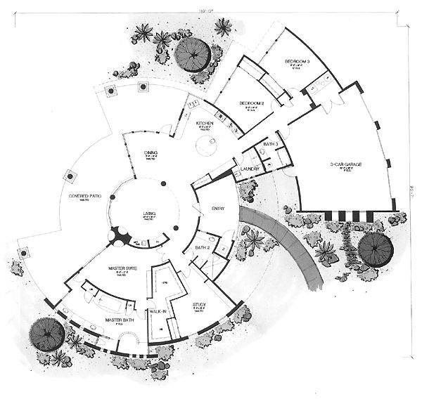 Southwestern House Plan ID: chp-23999 - COOLhouseplans.com