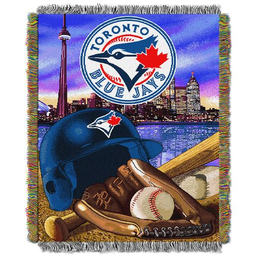 Toronto Blue Jays Woven Tapestry Throw Blanket (Home Field Advantage) (48x60)  #torontobluejays #bluejays #aleastchamps #bluejaysblanket  Purchase Here: http://www.mysportsdecor.com/toronto-blue-jays-woven-tapestry-throw-blanket-home-field-advantage-48x60.html