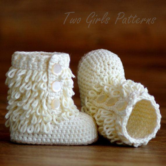Crochet Baby Boot Pattern - Furrylicious Booties -