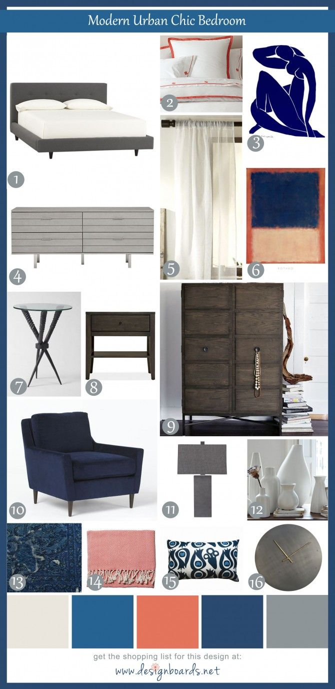 Modern Urban Chic Bedroom 6 | Design Boards ::  oh dear, my favorite may have changed!