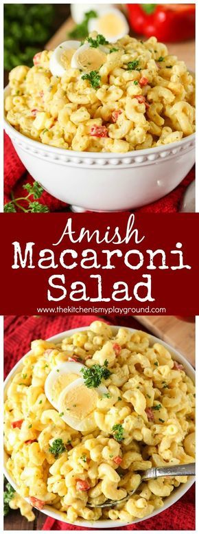 Classic Amish Macaroni Salad is an old-timey favorite. And it's a classic favorite for a reason ~ because it's just plain good. With it's characteristicly sweet creamy dressing, this macaroni salad is simply perfect for potlucks, backyard barbecues, and pretty much any everyday meal!