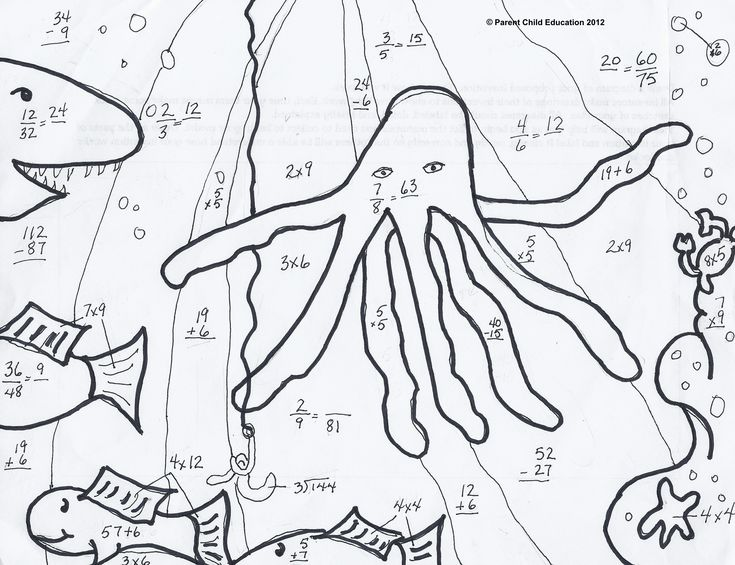 Free Math Coloring Worksheets 5th Grade