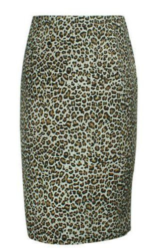 Fashion Bug Plus Size #Burlesque Leopard Print #Skirt #Rockabilly Sexy #Vintage #Pin-Up Pencil Skirt Sizes 6-28