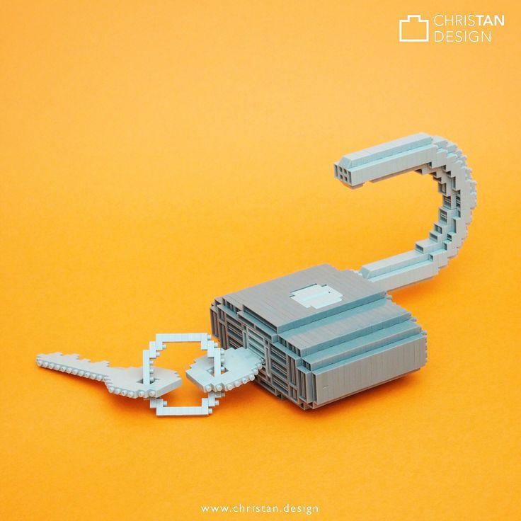 Unlock your full potential in 2018! =D ... My random creation ... a nanoblock padlock! Hahahaahaaa ^^