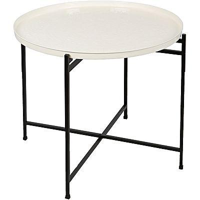 Tavolino Side Table, Concentric, White