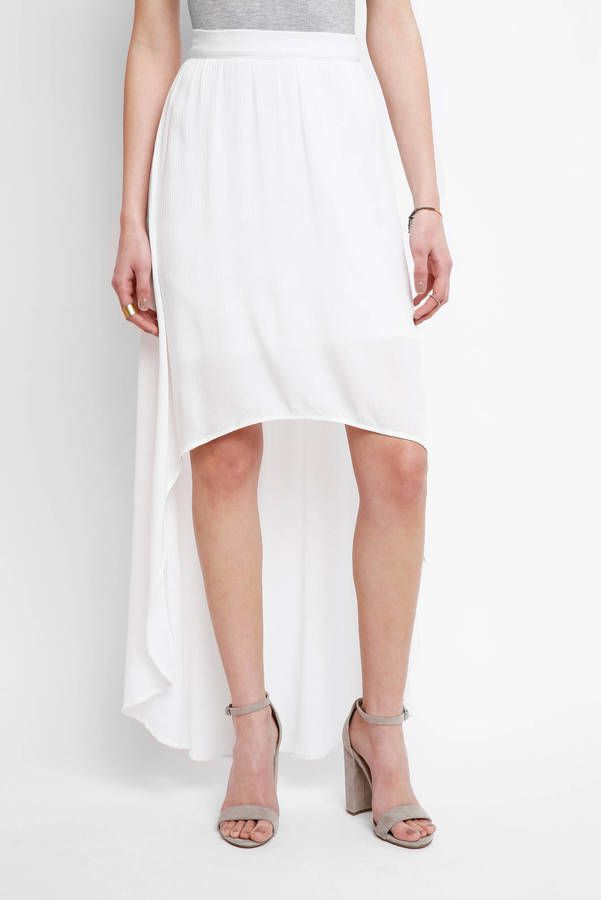 Sady & Lu Laken Hi Low Maxi Skirt