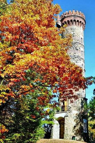 autumn observation tower - Cvilín The Czech Republic