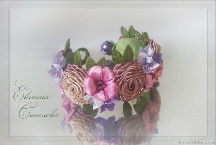 Купить Браслет с цветами в интернет магазине на Ярмарке Мастеров