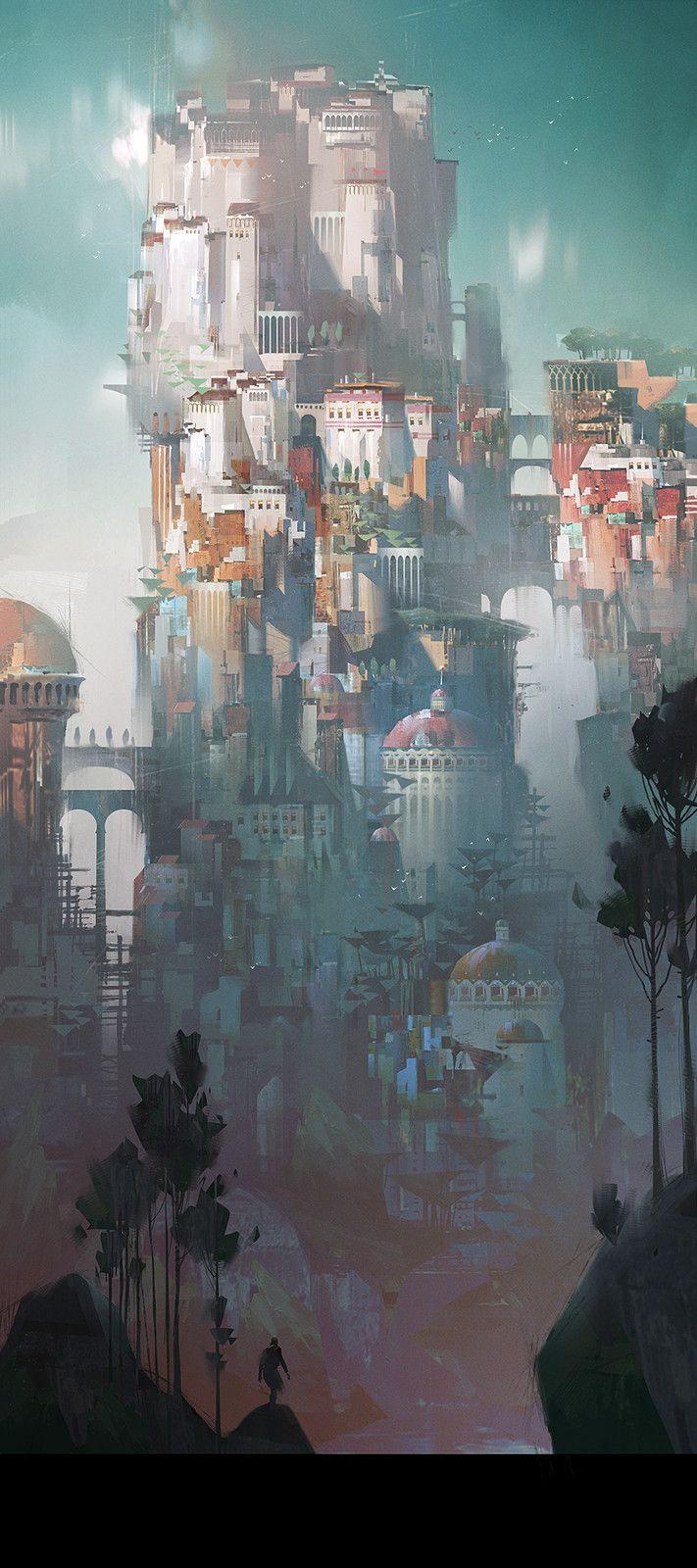 Lost kingdom, Ivan Laliashvili on ArtStation at https://www.artstation.com/artwork/54D5J