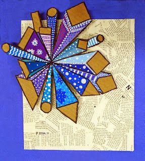 Hudsonville Art Program: High School Art 1- 1pt Mixed Media Collage