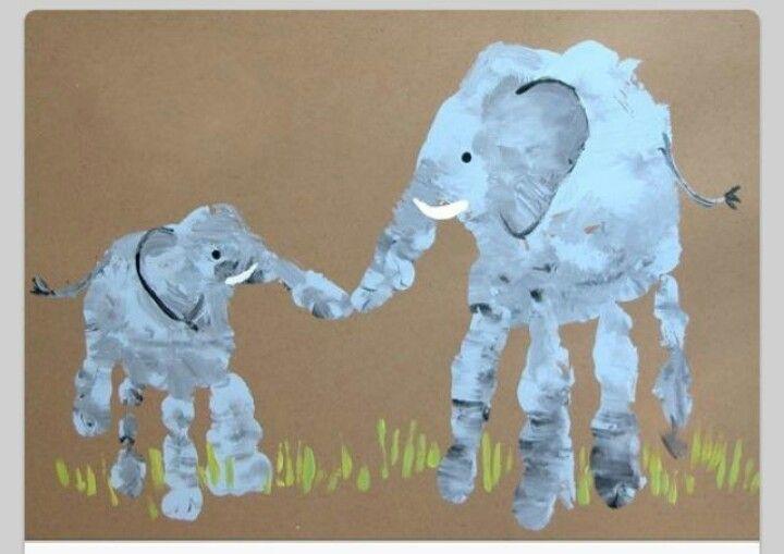 Elephant hand prints.