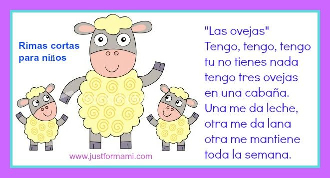 Traditional song / rhyme is perfect for kids learning animals in Spanish.
