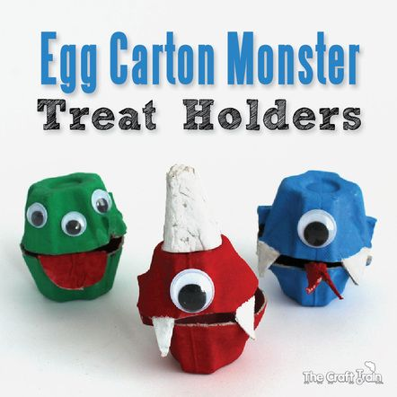 Egg Carton Monster Treat Holders