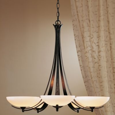 Aegis Five Arms Chandelier by Hubbardton Forge